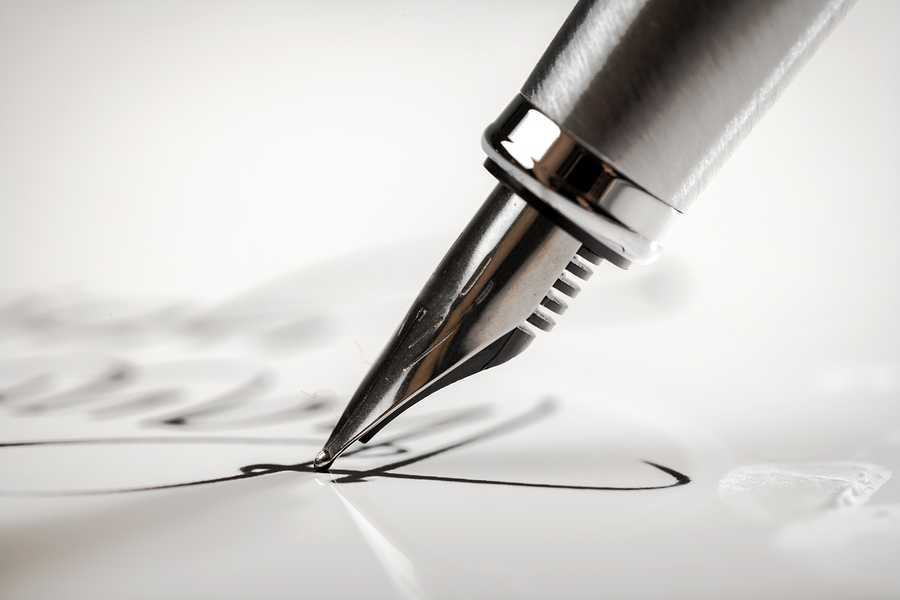 Pen Writing Letter Signature Paper Fountain Pen Document